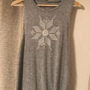 Pure Barre snowflake top XS
